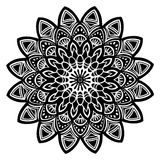 Ο Μαύρος Mandala Στοκ φωτογραφία με δικαίωμα ελεύθερης χρήσης