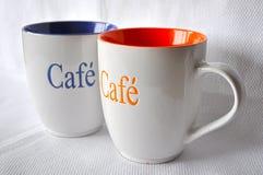ο μεγάλος καφές κοιλαίνει δύο στοκ φωτογραφία
