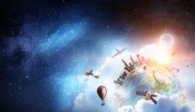Ο μεγάλος μεγάλος κόσμος μας Μικτά μέσα στοκ φωτογραφίες