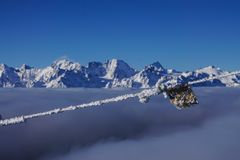 Ο μεγάλος ορεινός όγκος από Verbier Ελβετία στοκ φωτογραφία με δικαίωμα ελεύθερης χρήσης