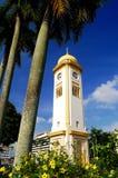 Ο μεγάλος πύργος 'Ενδείξεων ώρασ' (Menara μαρμελάδα Besar) Στοκ Εικόνα