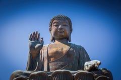 Ο μεγάλος Βούδας, ορόσημο στο μεταλλικό θόρυβο Nong Στοκ Φωτογραφία
