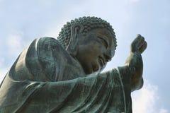 Ο μεγάλος Βούδας στο μεταλλικό θόρυβο Ngong, Χογκ Κογκ Στοκ φωτογραφία με δικαίωμα ελεύθερης χρήσης