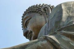 Ο μεγάλος Βούδας στο μεταλλικό θόρυβο Ngong, Χογκ Κογκ Στοκ εικόνα με δικαίωμα ελεύθερης χρήσης