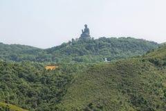 Ο μεγάλος Βούδας στο μεταλλικό θόρυβο Ngong, Χογκ Κογκ Στοκ εικόνες με δικαίωμα ελεύθερης χρήσης