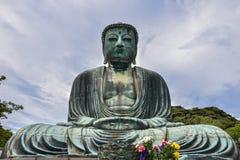 ο μεγάλος Βούδας kotoku-στο ναό Στοκ Φωτογραφίες