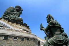 Ο μεγάλος Βούδας Po Lin στο μοναστήρι, Χονγκ Κονγκ Στοκ Φωτογραφίες
