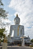 Ο μεγάλος λευκός Βούδας, ναός στοκ εικόνα με δικαίωμα ελεύθερης χρήσης