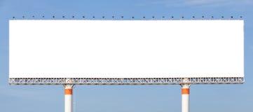 Ο μεγάλος κενός πίνακας διαφημίσεων έτοιμος για τη νέα διαφήμιση με το μπλε στοκ φωτογραφία με δικαίωμα ελεύθερης χρήσης