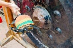 Ο μεγάλος Μαύρος ναών κουδουνιών στην Ταϊλάνδη Στοκ Εικόνες