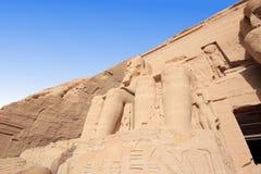 Ο μεγάλος ναός Ramesses ΙΙ abu Αίγυπτος simbel Στοκ Φωτογραφίες