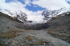 Ο μεγάλος παγετώνας Adishi Στοκ εικόνα με δικαίωμα ελεύθερης χρήσης