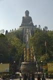 Ο μεγάλος υπαίθριος Βούδας Χογκ Κογκ Στοκ φωτογραφία με δικαίωμα ελεύθερης χρήσης