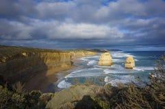 Ο μεγάλος ωκεάνιος δρόμος, δώδεκα απόστολοι, Αυστραλία Στοκ φωτογραφία με δικαίωμα ελεύθερης χρήσης