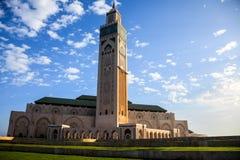 Ο μεγάλος Hassan ΙΙ μουσουλμανικό τέμενος Στοκ Φωτογραφία