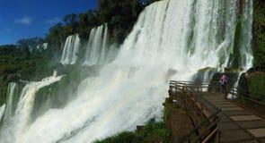 Ο μεγαλύτερος καταρράκτης στον κόσμο - Iguazu πέφτει πλευρά της Αργεντινής στοκ εικόνες με δικαίωμα ελεύθερης χρήσης