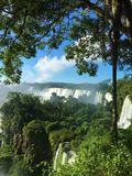 Ο μεγαλύτερος καταρράκτης στον κόσμο - Iguazu πέφτει πλευρά της Αργεντινής στοκ φωτογραφία