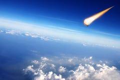 Ο μετεωρίτης συγκρούεται με τη γη Στοκ Φωτογραφίες