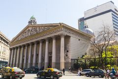 Ο μητροπολιτικός καθεδρικός ναός του Μπουένος Άιρες aires buenos της Αργεντινής Στοκ φωτογραφία με δικαίωμα ελεύθερης χρήσης