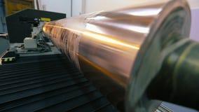 Ο μηχανισμός στην ταπετσαρία Σύγχρονος ψηφιακός Τύπος εκτύπωσης Άξονας για την τυπωμένη ύλη εκτύπωσης στην ταπετσαρία φιλμ μικρού μήκους