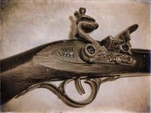 Ο μηχανισμός ώθησης του παλαιού κυνηγετικού όπλου Στοκ Φωτογραφία