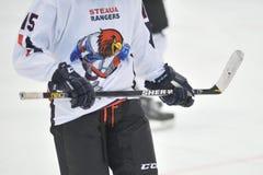 Ο μη αναγνωρισμένος παίκτης χόκεϋ ανταγωνίζεται Στοκ εικόνα με δικαίωμα ελεύθερης χρήσης