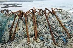 Ο μη απασχόλησης εξοπλισμός αλιείας. Στοκ Φωτογραφίες