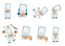 Ο μικροσκοπικός αρχιμάγειρας κάνει ταχυδακτυλουργίες Στοκ φωτογραφία με δικαίωμα ελεύθερης χρήσης