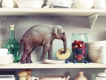 Ο μικροσκοπικός ελέφαντας απεικόνιση αποθεμάτων