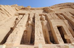 Ο μικρός ναός Nefertari abu Αίγυπτος simbel Στοκ φωτογραφία με δικαίωμα ελεύθερης χρήσης