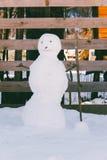 Ο μικρός χιονάνθρωπος Στοκ Φωτογραφία