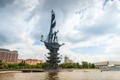 1$ο μνημείο του Peter στη Μόσχα Στοκ φωτογραφία με δικαίωμα ελεύθερης χρήσης