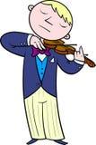 Ο μουσικός ορχηστρών παίζει το βιολί Στοκ Εικόνα