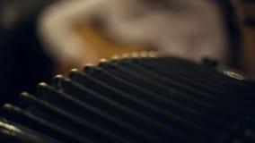 Ο μουσικός παίζει το ακκορντέον απόθεμα βίντεο