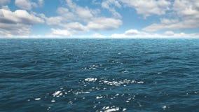 Ο μπλε ήρεμος ωκεανός απόθεμα βίντεο