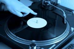 ο μπλε κ. του DJ Στοκ Φωτογραφία