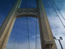 Ο μπλε ουρανός γεφυρών καλύπτει τα σχοινιά Στοκ εικόνα με δικαίωμα ελεύθερης χρήσης