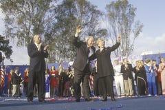 Ο Μπους και συνάθροιση εκστρατείας Cheney Στοκ Φωτογραφίες