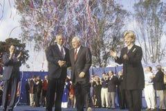 Ο Μπους και συνάθροιση εκστρατείας Cheney Στοκ φωτογραφία με δικαίωμα ελεύθερης χρήσης