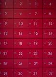 Ο μπροστινός αριθμός κόκκινου ντουλαπιού Στοκ εικόνα με δικαίωμα ελεύθερης χρήσης