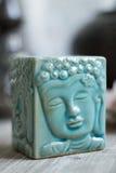 Ο μπλε Βούδας Aromalamp Στοκ εικόνα με δικαίωμα ελεύθερης χρήσης