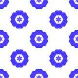 Ο μπλε Δαβίδ Star Seamless Background Στοκ Φωτογραφίες