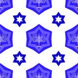 Ο μπλε Δαβίδ Star Seamless Background Στοκ φωτογραφίες με δικαίωμα ελεύθερης χρήσης