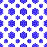 Ο μπλε Δαβίδ Star Seamless Jewish Symbol της θρησκείας Στοκ εικόνα με δικαίωμα ελεύθερης χρήσης