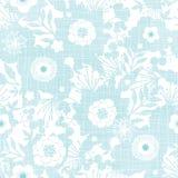 Ο μπλε κήπος σύστασης υφάσματος σκιαγραφεί άνευ ραφής ελεύθερη απεικόνιση δικαιώματος