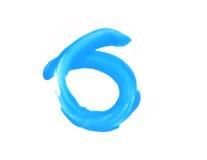 Ο μπλε κύκλος Watercolor απομονώνει στο λευκό Στοκ φωτογραφία με δικαίωμα ελεύθερης χρήσης