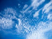 Ο μπλε ουρανός καλύπτει το υπόβαθρο Στοκ Εικόνα
