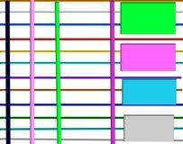 Ο μπλε πορφυρός πράσινος Μαύρος εμβλημάτων απεικόνιση αποθεμάτων