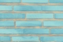 Ο μπλε τουβλότοιχος Στοκ φωτογραφία με δικαίωμα ελεύθερης χρήσης