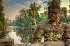 Ο μυστήριος ναός Preah Khan σε Angkor, Siem συγκεντρώνει, Καμπότζη Στοκ εικόνα με δικαίωμα ελεύθερης χρήσης